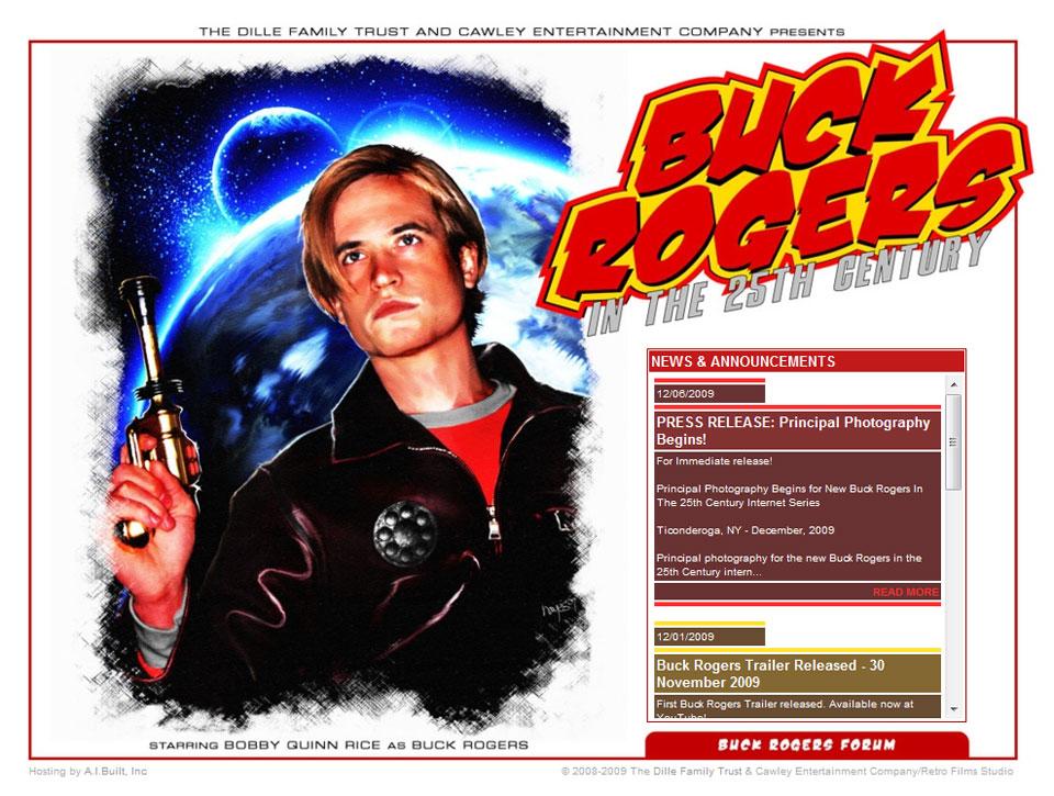January 03, 2010 screen shot of Buck Rogers Begins website