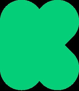 Kickstarter logo K green