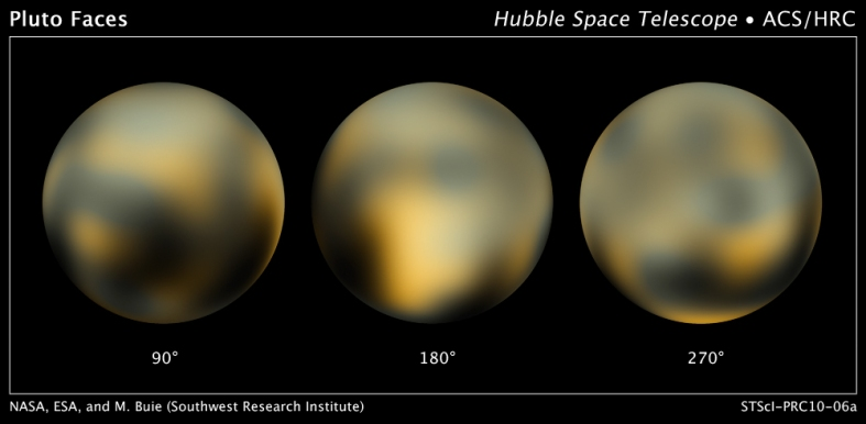 The Changing Faces of Pluto