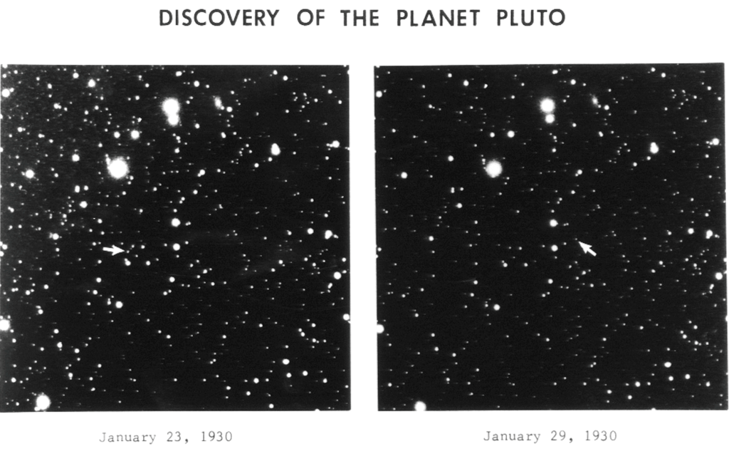 Discovery photographs of Pluto