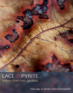 Book cover from Goodreads of Lace & Pyrite by Ross Gay and Aimee Nezhukumatathil