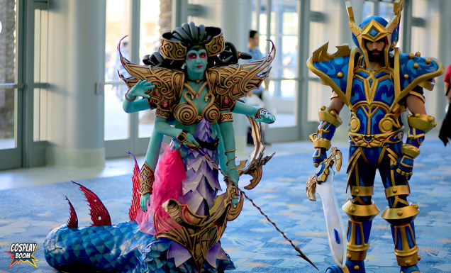 Image of cosplayers in elaborate costumes