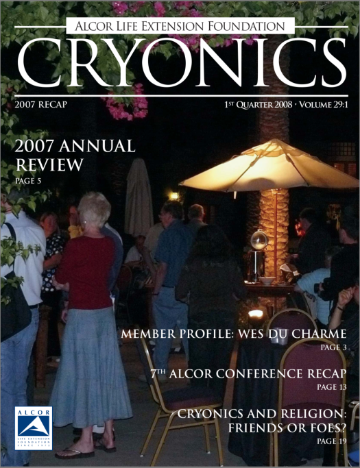 Cryonics volume 29.1 cover