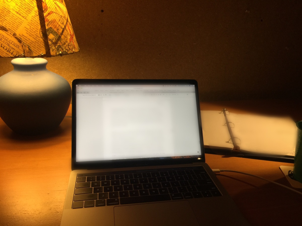 Macbook Lamp Notebook Desk writing