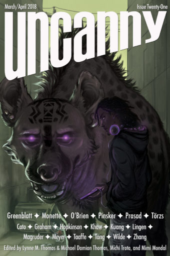 Issue 21 cover of Uncanny Magazine
