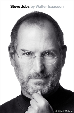 Book cover of Steve Jobs by Walter Isaacson with image of Steve Jobs