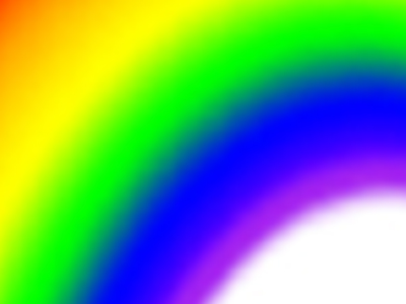 Painbow Header with rainbow gradient against white background
